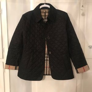 USED BURBERRY BRIT DIAMOND QUILTED JACKET - L
